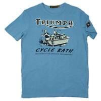 TRIUMPH JOHNSON MOTORS CYCLE BATH T-SHIRT MEN'S LOGO TEE WAS $49.99 ALL SIZES