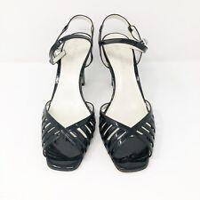 AK Anne Klein Women's Sandals Size 9.5 M Black Patent Heels