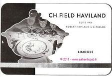 PUBLICITE CH FIELD HAVILAND PORCELAINE LIMOGES 1959 FRENCH AD ADVERT PUB