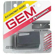 Gem Single Edge Super Steel Blades, Used Blade Vault -10 Count (10 Pack)