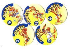 POGS - F-QUIC5 001 Lot de 5 POGS QUICKY'S de NESQUIK Neufs (ADVERTISING)