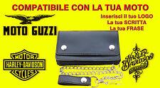 Portafoglio Borsello bikers personalizzabile Moto Guzzi Wallet Leather geldbörse