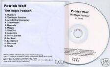 PATRICK WOLF The Magic Position 2007 UK numbered 13-track promo test CD