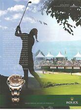 PUBLICITE ADVERTISING 2011 ROLEX et le Master d'Evian Golf