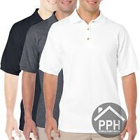 3 Pack Mens Polo Shirt Gildan Dry Blend Polo Brand New All Sizes Work Plain Sale