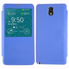 Housse Etui Coque View Case BLEU Samsung Galaxy Note 3 N9000 N9002 N9005 N9006