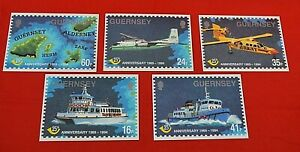 GUERNSEY POST OFFICE:   25th ANNIVERSARY SET OF 5 POSTCARDS - 1994!