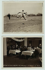 RARE 2 Photos - Baseball Game - New York NY Giants vs MF 1943 - Game & Dinner