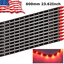 """10x 60CM 24"""" Red Flexible LED Underbody Light Strip 2835 SMD for Car Motor 12V"""