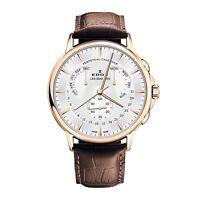 Edox Men's Les Bemonts 42mm Leather Band Swiss Quartz Watch 01602 37J AID