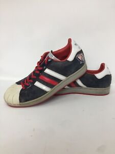 ADIDAS Superstar New Jersey NETS NBA Series Sneakers Shell Top Mens Size 9