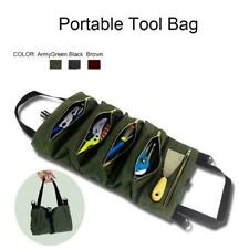 Tool Roll Up Bag Canvas Storage Pouch Tool Tote Carrier Sling Holder Kit