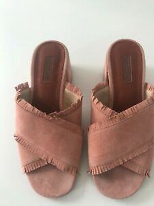 Topshop pink suede sandals - size 5
