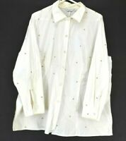 Richard Malcolm Women's Plus Size 2X Long Sleeve Button Up Polka Dot Shirt