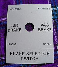 3273 - BRAKE SELECTOR SWITCH DECAL FOR CLASS 37 LOCO - NEW OLD STOCK