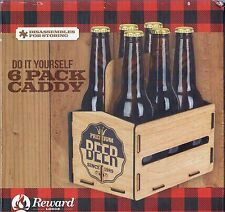 REWARD LODGE DO IT YOURSELF 6 PACK BEER CADDY~NEW IN BOX