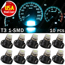 10 PCS Iceblue T3 Neo-wedge 1-1210 smd Instrument Cluster Panel Dash Gauge Bulbs