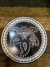 Stonewear  by Home  Target 1 PAISLEY BLACK WHITE  Hearts Salad Plate