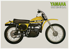 YAMAHA Poster MX360 MX360A VMX 1974 Superb Suitable to Frame
