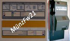 Piktogramm Schild für POST MünzFw21 Münzfernsprecher Münztelefon NEU Kunststoff