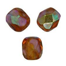 50 Perles Facettes cristal de boheme 4mm - SMOKED TOPAZ POUDRE AB