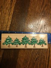 Rubber Wood Stamp - Christmas Tree Scenery Grove Forest Penny Black
