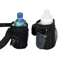 Baby Stroller Cup Holder Milk Bottle Rack Storage Bag Pocket Waterproof HR
