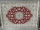 authentic rug hand knotted vegetable color 4x6 wool and silk