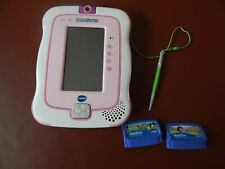 Vtech InnoTab 3 pink touch screen tablet with camera and two cartridges