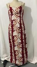 ROYAL CREATIONS HAWAII LONG red leaves  SUMMER DRESS slits on the sides  L (A18)