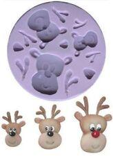 Karen Davies Reindeer Heads 3 sizes Christmas Sugarcraft Moulds NEXT DAY DESPATC
