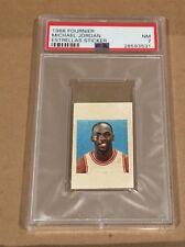 1988 Fournier Estrellas Sticker Michael Jordan Chicago Bulls HOF PSA 7 NM GOAT
