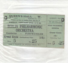Concert Ticket 1939 Wilhelm Furtwängler Berlin Philharmonic Queen's Hall