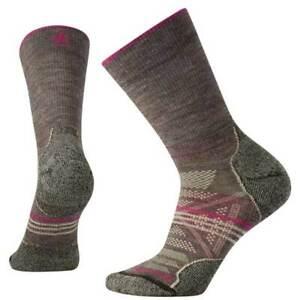 Smartwool Women's Crew Socks PhD Outdoor Light, Taupe, Medium SW001311-236-M