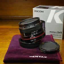 HD Pentax DA 35mm f2.8 macro with box