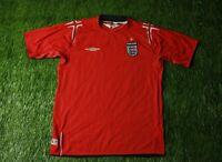 ENGLAND NATIONAL TEAM 2004-2006 FOOTBALL SHIRT JERSEY AWAY UMBRO ORIGINAL SIZE L