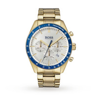 BRAND NEW HUGO BOSS TROPHY GOLD STAINLESS STEEL CHRONOGRAPH MEN WATCH HB1513631