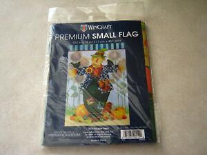 """1 WinCraft SCARECROW Small Garden Flag 12.5"""" x 18"""" Fall Autumn Thanksgiving"""