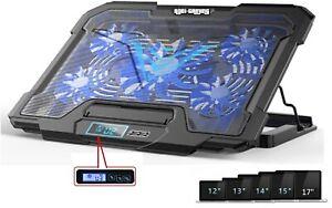 """Base Raffreddamento Supporto PC per Notebook con 5 Ventole 2 USB LED Fino a 17 """""""