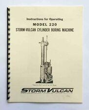 Storm Vulcan 220 Boring Bar Instruction Manual