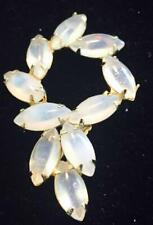 Opalite Ladies Brooch in Gold Tone Setting 10 Stones 2 1/2 inch size