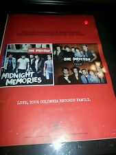 One Direction Midnight Memories Columbia Records Rare Promo Poster Ad Framed!