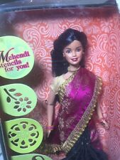 NIB Barbie In India Indian Made 2008 2013 Imported Stunning Purple Gold Accent
