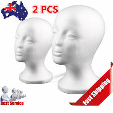 2X Female Mannequin Wigs Glasses Head White Manikin Model Foam Display Stand( EC