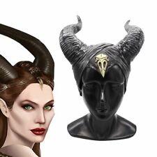 Maleficent 2 Horns Evil black Queen Hat headpiece for Halloween Party Cosplay UK