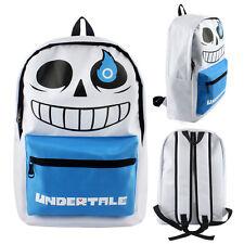 Game Undertale Sans Bag Canvas Backpack Schoolbag Leisure Laptop Knapsack Gift