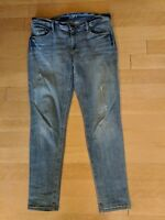 Ann Taylor LOFT Distressed Relaxed Skinny Jeans Size 28/6 EUC