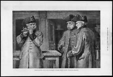 1882 Antique Print - LONDON Chelsea Hospital British Grenadier Bandsmen  (136)