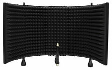 Rockville RMF2 Studio Microphone Isolation Shield with Sound Dampening Foam