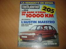 AJ N°4 1983 Peugeot 205 GR.Fiat Ritmo ES